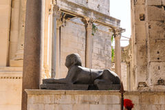 Διάσπαση, αιγυπτιακό sphinx της Κροατίας Στοκ φωτογραφίες με δικαίωμα ελεύθερης χρήσης