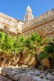Διάσπαση, κήπος υποδομών παλατιών της Κροατίας Diocletian Στοκ Εικόνες