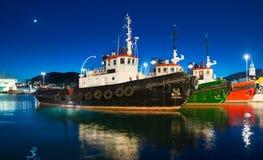 Διάσπαση, πανοραμική άποψη νύχτας της Κροατίας Στοκ Εικόνα