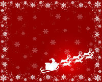 διάστημα αντιγράφων Χριστουγέννων καρτών διανυσματική απεικόνιση