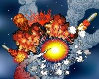 διάστημα εκρήξεων Στοκ εικόνες με δικαίωμα ελεύθερης χρήσης