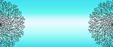 Διάστημα εμβλημάτων Mandala για το κείμενο Στοκ Εικόνα