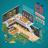 Διάστημα κοβάλτιο-εργασίας Στοκ Εικόνα