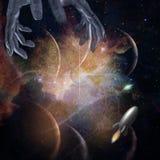 Διάστημα με τα χέρια Στοκ Εικόνες