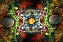 Διάστημα με τις θαμπάδες Διανυσματική απεικόνιση