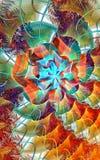 Διάστημα μικροϋπολογιστών fractal σχεδίου καρτών ανασκόπησης καλή αφίσα Στοκ Φωτογραφία