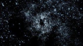 Διάστημα 2225: Πέταγμα μέσω των τομέων αστεριών στο διάστημα ελεύθερη απεικόνιση δικαιώματος