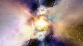 Διάστημα 2239: Ταξίδι μέσω των τομέων και των γαλαξιών αστεριών στο διάστημα απόθεμα βίντεο