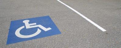 Διάστημα χώρων στάθμευσης αναπηρίας Στοκ φωτογραφία με δικαίωμα ελεύθερης χρήσης