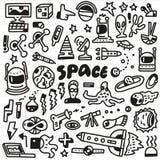 Διάστημα - doodles θέστε Στοκ Εικόνες
