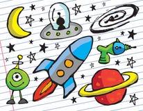 Διάστημα doodles Στοκ Εικόνες
