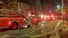 Διάσωση πυρκαγιάς του Σιάτλ στη σκηνή Στοκ Εικόνες