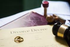 Διάταγμα διαζυγίου στοκ εικόνα