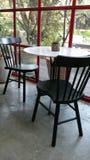 Διάταξη θέσεων καφέδων χαλάρωσης Στοκ φωτογραφία με δικαίωμα ελεύθερης χρήσης