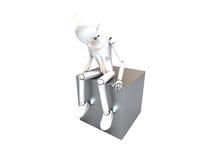 διάταξη θέσεων ρομπότ κιβω&ta Στοκ Εικόνες