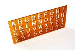 διάτρητο αλφάβητου στοκ φωτογραφία