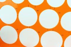 Διάτρητο που απομονώνεται πλαστικό στοκ φωτογραφίες με δικαίωμα ελεύθερης χρήσης