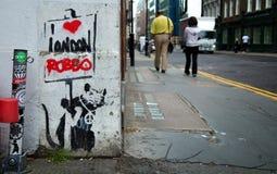Διάτρητο των αρουραίων μιας αμφισβήτησης από Banksy στοκ εικόνα