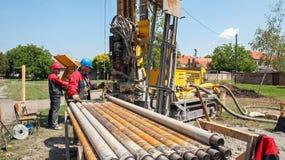 διάτρυση γεωθερμική κα&lambda Στοκ φωτογραφία με δικαίωμα ελεύθερης χρήσης