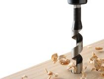 διάτρυση χαρτονιών ξύλινη Στοκ Φωτογραφία