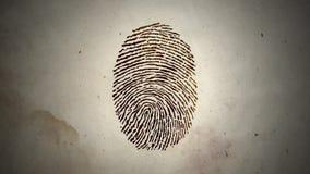 Διάφορα δακτυλικά αποτυπώματα που τρέχουν σε έναν βρόχο σε παλαιό χαρτί απεικόνιση αποθεμάτων