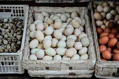 Διάφορα αυγά στο παλαιό τέταρτο στο Ανόι στοκ φωτογραφίες