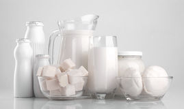 Διάφορα γαλακτοκομικά προϊόντα Στοκ εικόνα με δικαίωμα ελεύθερης χρήσης