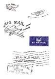 Διάφορα γραμματόσημα του παλαιού ταχυδρομείου αέρα (αρχικού - καμία ανίχνευση Στοκ εικόνα με δικαίωμα ελεύθερης χρήσης