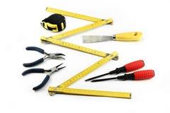 Διάφορα εργαλεία στην άσπρη ανασκόπηση Στοκ Εικόνες