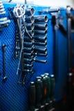 Διάφορα εργαλεία στο εργαστήριο μηχανικών Στοκ φωτογραφία με δικαίωμα ελεύθερης χρήσης