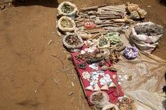 Διάφορα καρυκεύματα στην αγορά, κοντά σε Antsohihy, Μαδαγασκάρη Στοκ Φωτογραφία