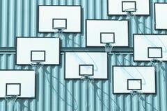 Διάφορα καλάθια καλαθοσφαίρισης του μονοχρωματικού μπλε τόνου χρωματίζουν Στοκ φωτογραφίες με δικαίωμα ελεύθερης χρήσης