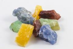 Διάφορα κομμάτια Calcite Στοκ φωτογραφίες με δικαίωμα ελεύθερης χρήσης