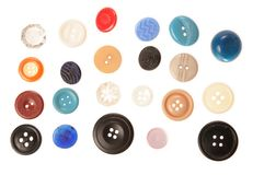 διάφορα κουμπιών Στοκ εικόνες με δικαίωμα ελεύθερης χρήσης
