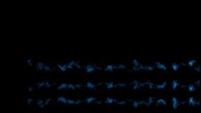 Διάφορα μπλε μετεωρίτες ή asteroids, ίχνη του καπνού, με την άλφα μάσκα ελεύθερη απεικόνιση δικαιώματος