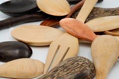 Διάφορα ξύλινα κουτάλια Στοκ Φωτογραφία