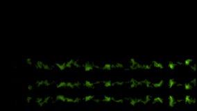 Διάφορα πράσινα μετεωρίτες ή asteroids, ίχνη του καπνού, με την άλφα μάσκα ελεύθερη απεικόνιση δικαιώματος