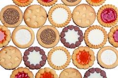 Διάφορα στρογγυλά μπισκότα στοκ εικόνες