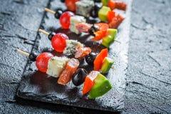 Διάφορα τρόφιμα δάχτυλων με τα φρέσκα συστατικά Στοκ φωτογραφία με δικαίωμα ελεύθερης χρήσης