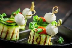 Διάφορα τρόφιμα δάχτυλων φιαγμένα από φρέσκα συστατικά Στοκ Εικόνες