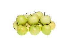 Διάφορα φυσικά κιτρινοπράσινα μήλα Στοκ εικόνες με δικαίωμα ελεύθερης χρήσης