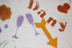 Διάφορα χρωματισμένα ζωηρόχρωμα σύμβολα Στοκ φωτογραφία με δικαίωμα ελεύθερης χρήσης