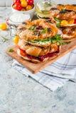 Διάφορα bagels σάντουιτς Στοκ Εικόνα