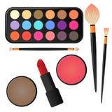 Διάφορα Makeup και καλλυντικά Στοκ Εικόνες