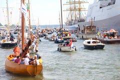 Διάφορα tallships του Άμστερνταμ στο ευρωπαϊκό μεγάλο γεγονός tallship Στοκ Εικόνες