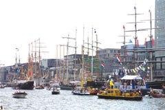 Διάφορα tallships του Άμστερνταμ στο ευρωπαϊκό μεγάλο γεγονός tallship Στοκ φωτογραφία με δικαίωμα ελεύθερης χρήσης