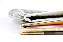 Διάφορες εφημερίδες Στοκ φωτογραφία με δικαίωμα ελεύθερης χρήσης