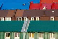 Διάφορες ζωηρόχρωμες στέγες Στοκ Εικόνες