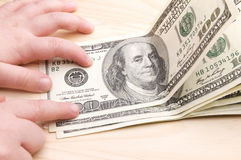 Εκατό αμερικανικά δολάρια Στοκ Φωτογραφίες