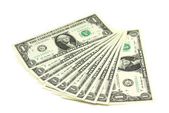 Διάφορες σημειώσεις σε ένα αμερικανικό δολάριο Στοκ Εικόνα